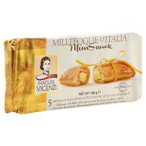 Biscoito Folhado Matilde Vicenzi Mini Snack Com Recheio De Creme De Confeiteiro 5 Unidades 125g